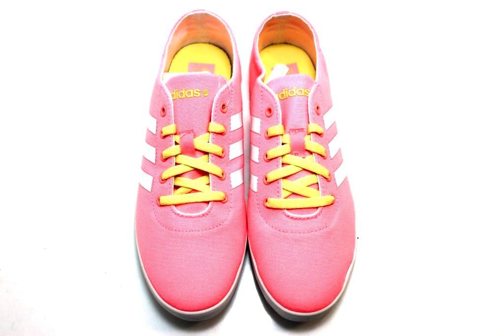 adidas neo cinza e rosa