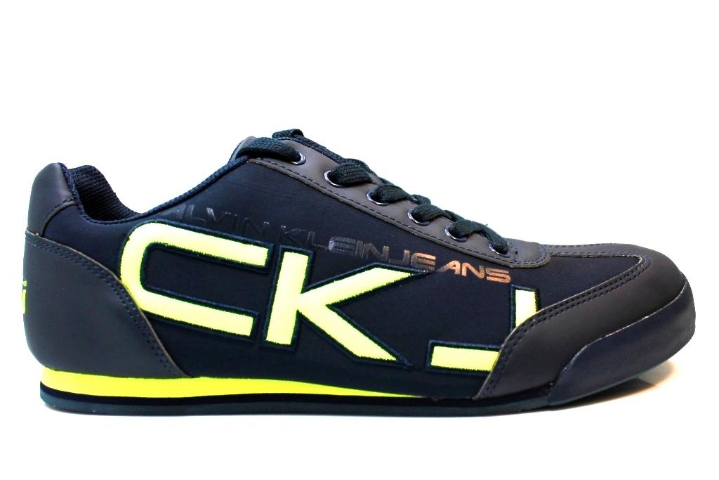 Dettagli su Calvin Klein Jeans Cale SE8454 Blu Sneakers Uomo Scarpa Sportiva Ginnastica