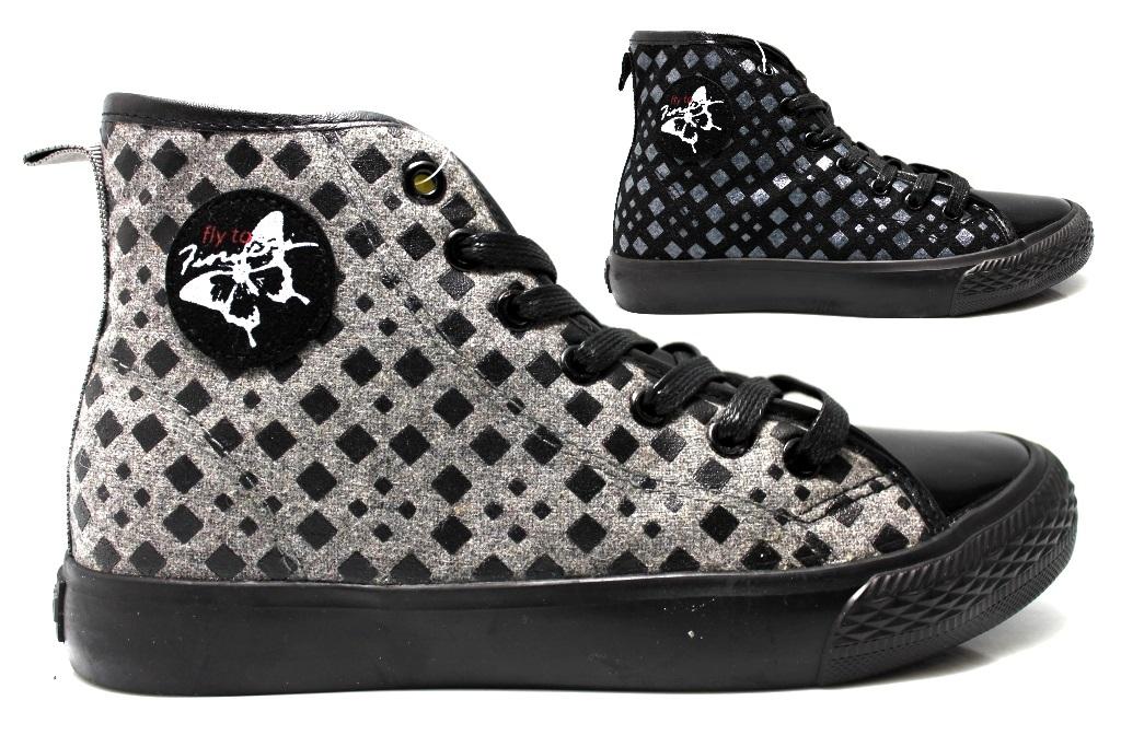 Fiorucci FDAD019 Nero e Grigio Sneakers Donna Polacchine Calzature Comode Confiable En Línea Barata MSyof
