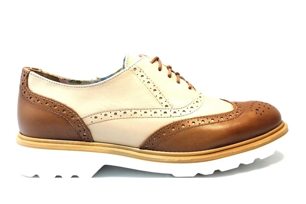 ... Pregunta IAL24760 Cuoio e Blu Stringate Stile Inglese Donna Calzature  Comode ... 931a50d1784