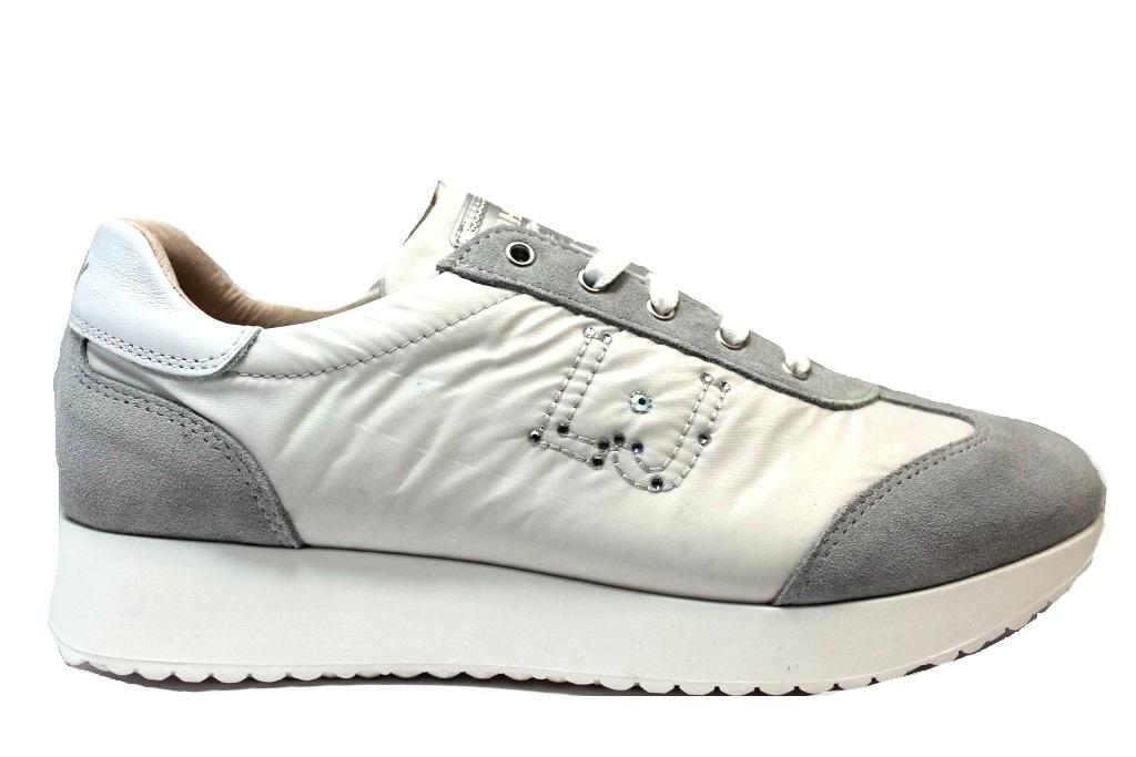 ... Liu Jo Girl B23023A Bianco e Blu Sneakers Scarpe Donna Calzature Comode  Shoes ...