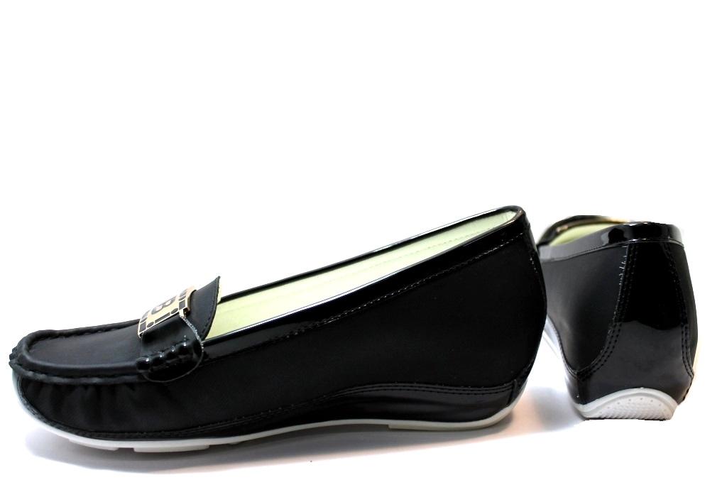 Laura Biagiotti 293 Nero Mocassini con Tacco Interno Scarpe Calzature Donna