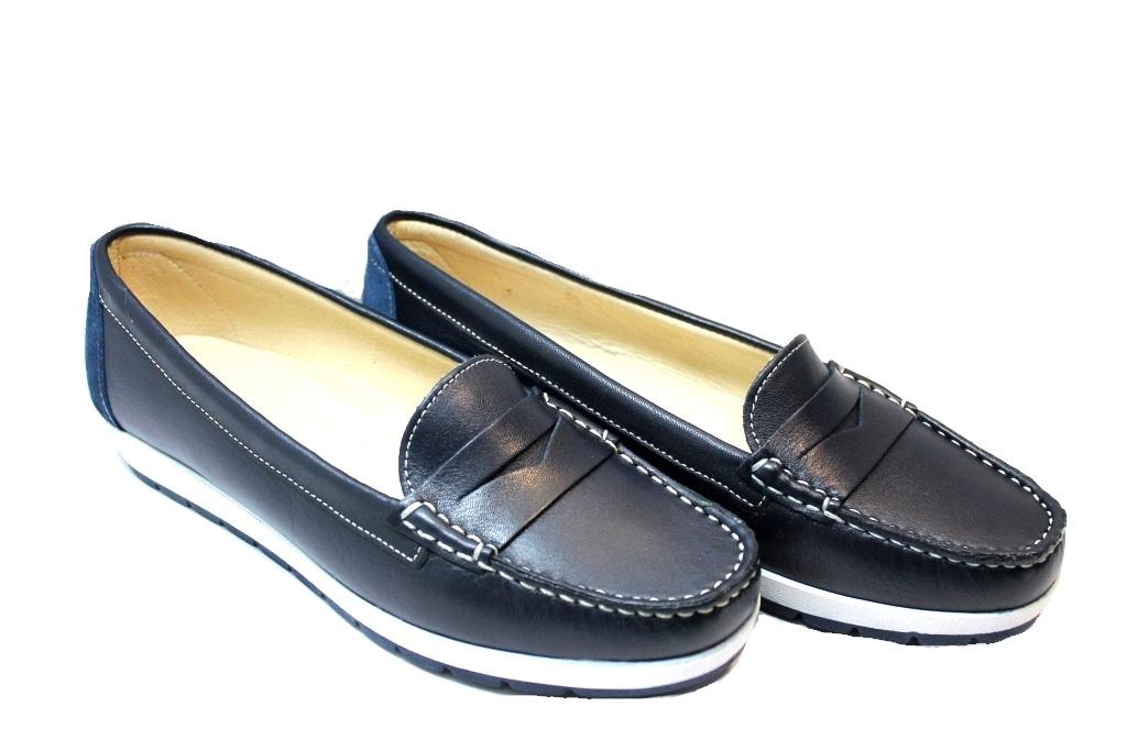 ... Cinzia Soft 3860 Blu e Bianco Mocassini Donna Calzature Comode ... d744486cd6f