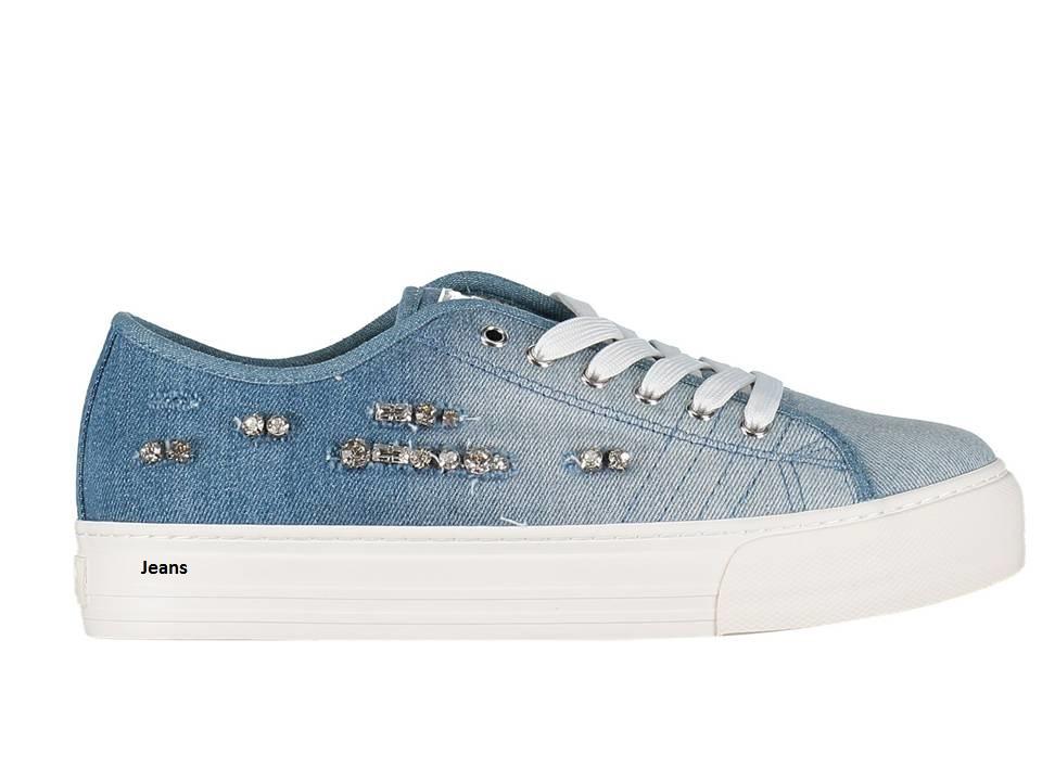 1429cc116bfff ... Liu Jo Girl UM22940 Blu e Rosso Sneakers Scarpe Donna Bambina Calzature  Comode ...