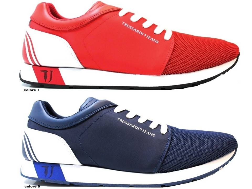 Détails sur Trussardi Jeans Sneakers Uomo Scarpa Sportiva Casual 11be02c447e
