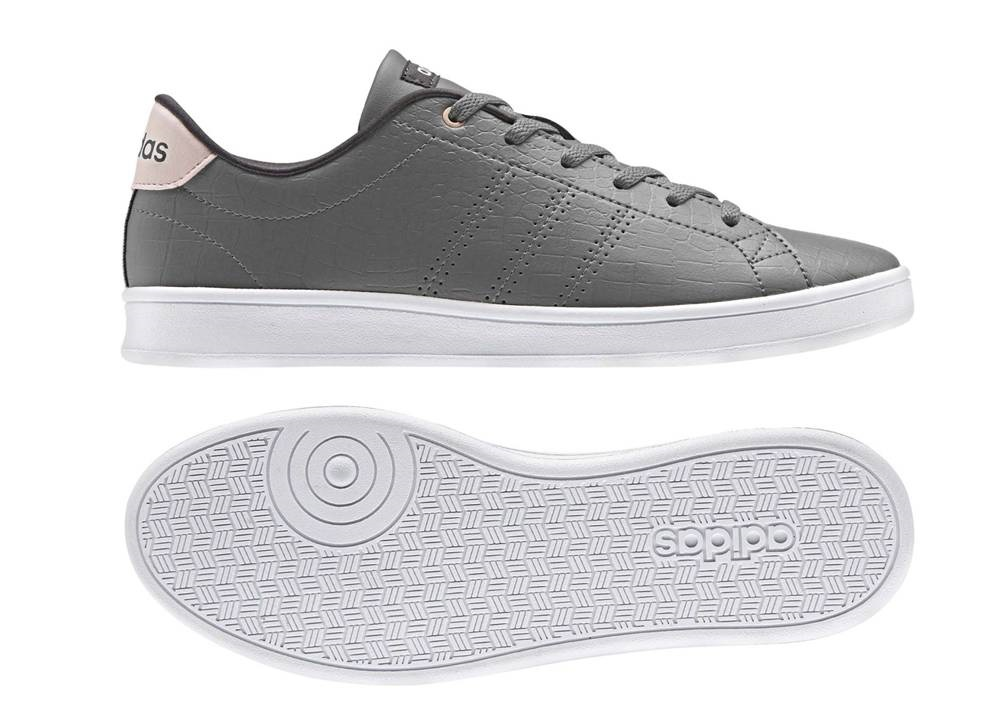 Adidas ADVANTAGE CL QT W BB9615 Grey Women s Shoes Sneakers Sports ... 228d53157a887