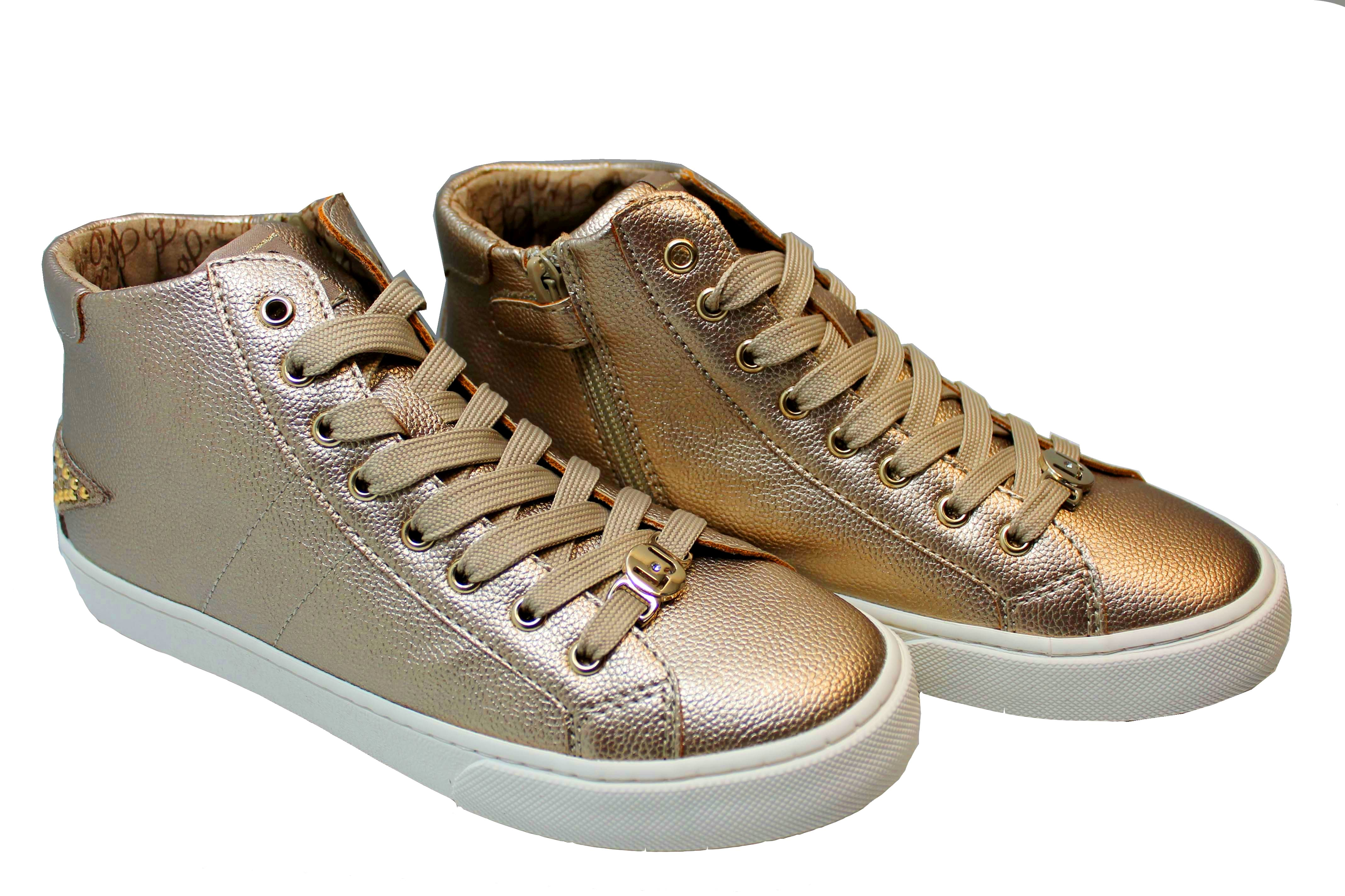 6191dd701b8cb ... Liu Jo Girl UM23259 Oro Sneakers Polacchine Scarpe Bambina Donna  Calzature ...