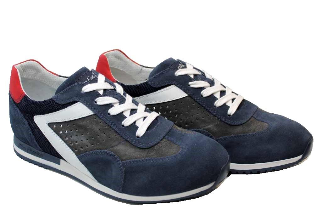 Dettagli su Nero Giardini P800241U Grigio e Blu Sneakers Casual Sportive Scarpe Uomo