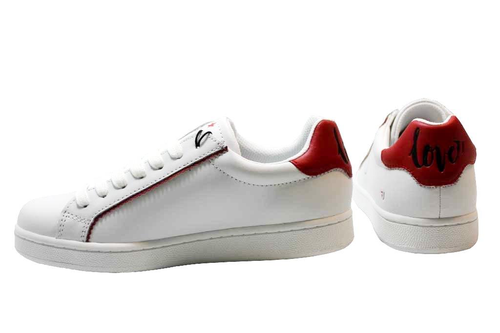 Trussardi Jeans 79A00133 Bianco Sneakers Damenschuhe Scarpa Sportiva