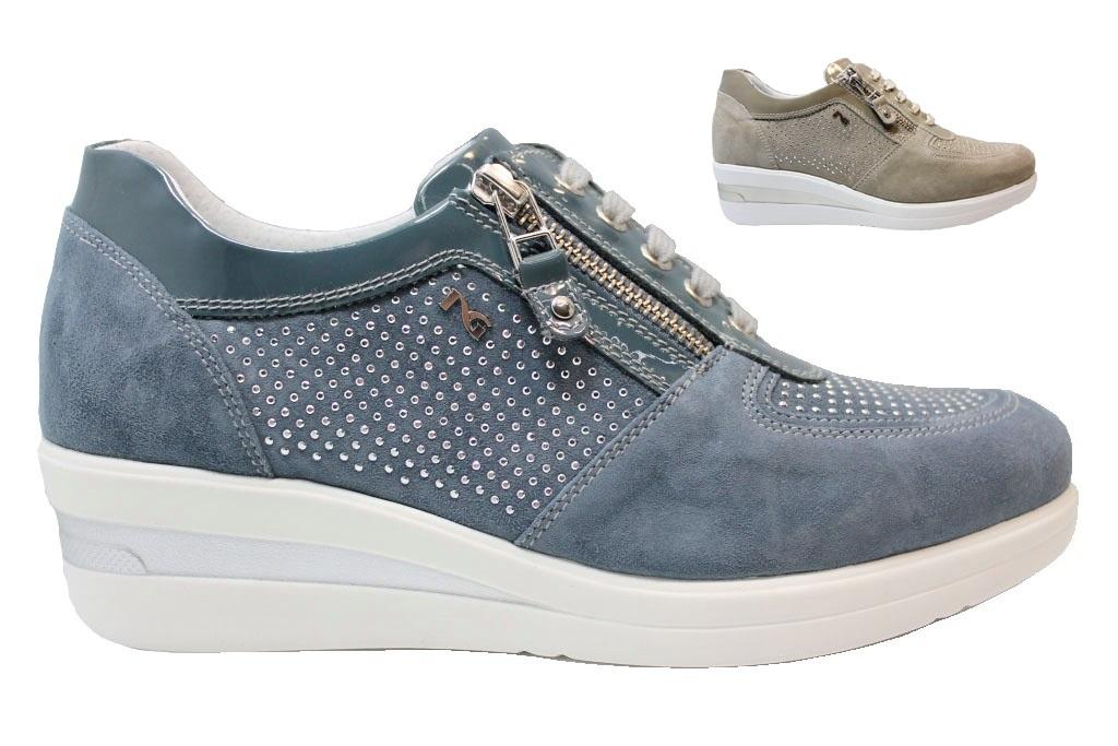 Nero Giardini P805060D Sabbia e Avio Sneakers Scarpe Donna Calzature Comode