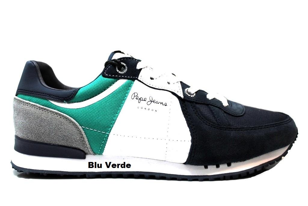 Pepe Jeans London PMS30415 Arancio e Nero Sneakers Uomo Scarpa Casual  Sportiva. codice  PepeJeansLondonPMS30415ArancioNeroBluVerdeBluRosso e4fd4cea93d