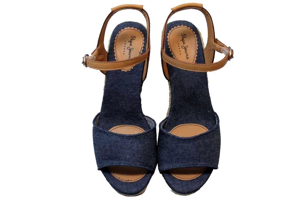 Pepe Jeans London Damenschuhe PLS90307 Jeans Sandalei con Zeppa Schuhe Damenschuhe London con Plateau fbcad1