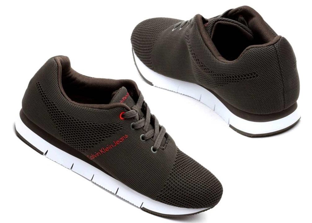 Scarpe casual da uomo  CK Sneakers Uomo JADO MESH S1451 Verde Nero e Blu Scarpa Sportiva Casual