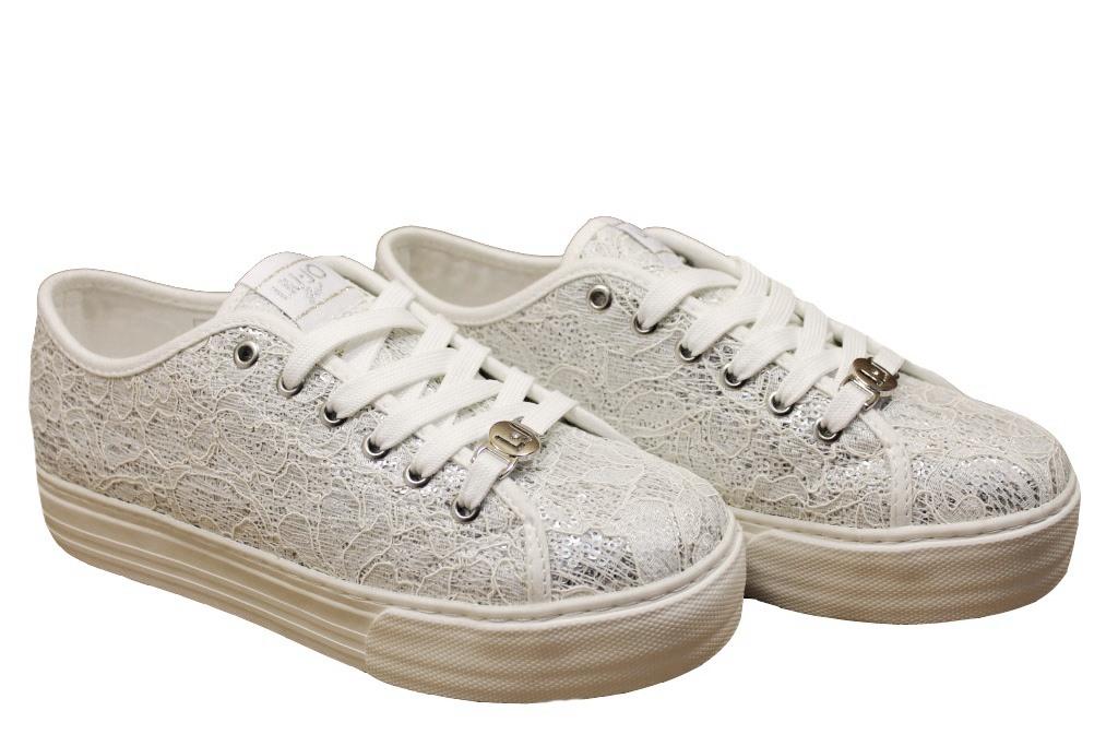 Liu Jo Girl L3A4 00058 Bianco e Jeans Scarpe Scarpe da Ginnastica Scarpe Scarpe Donna Calzature Comode 76b77e