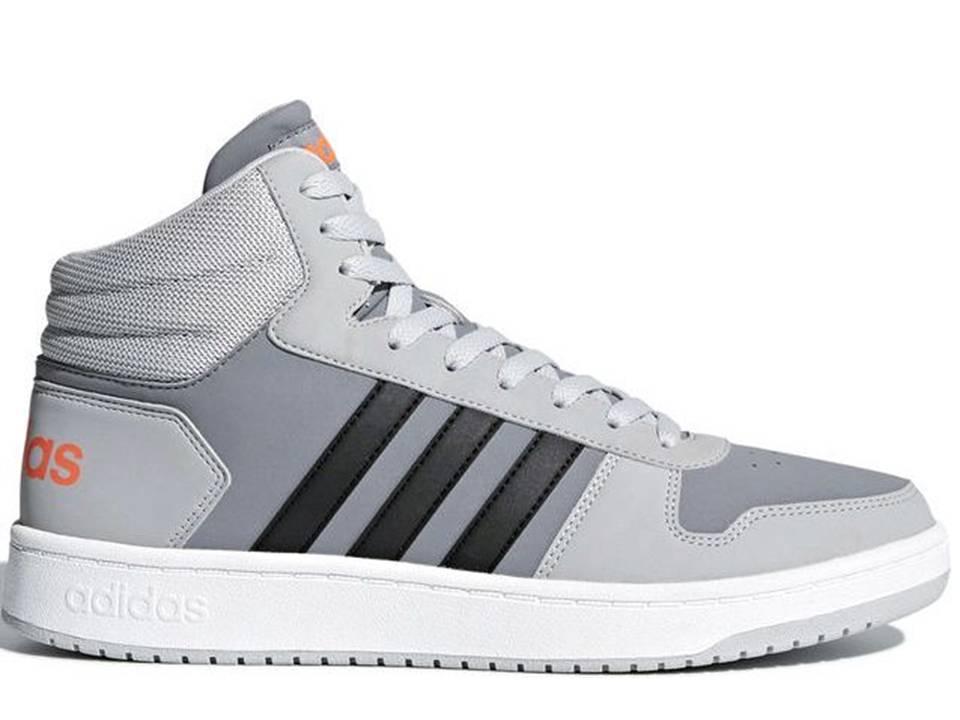 Dettagli su Adidas HOOPS MID 2.0 DB0100 Grigio Scarpe Donna Bambino Sneakers Ginnastica