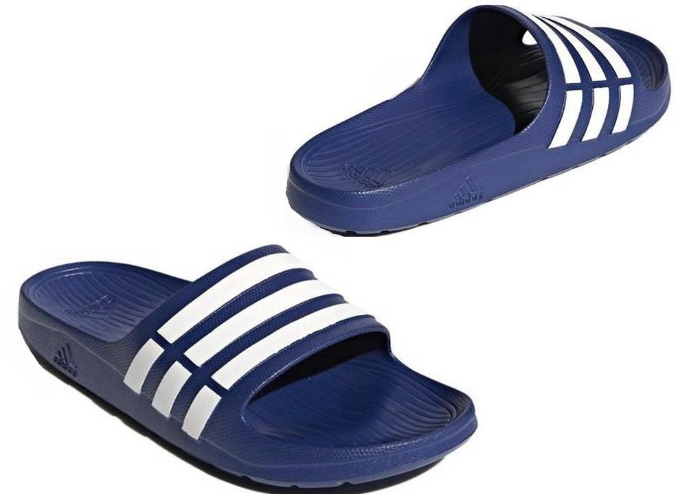 new arrival 379b9 90718 Adidas Duramo Slide Mens chaussons bleu mer douche G14309