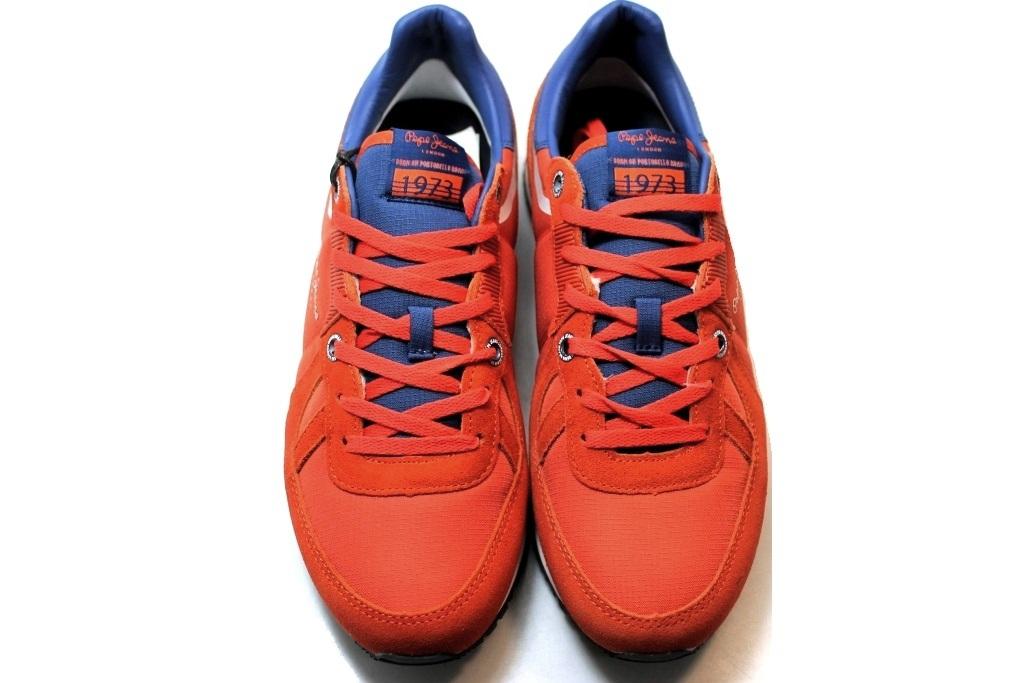 Descrizione. Pepe Jeans London PMS30415 Arancio Sneakers Uomo Scarpa Casual  Sportiva. 6ea025fee8b