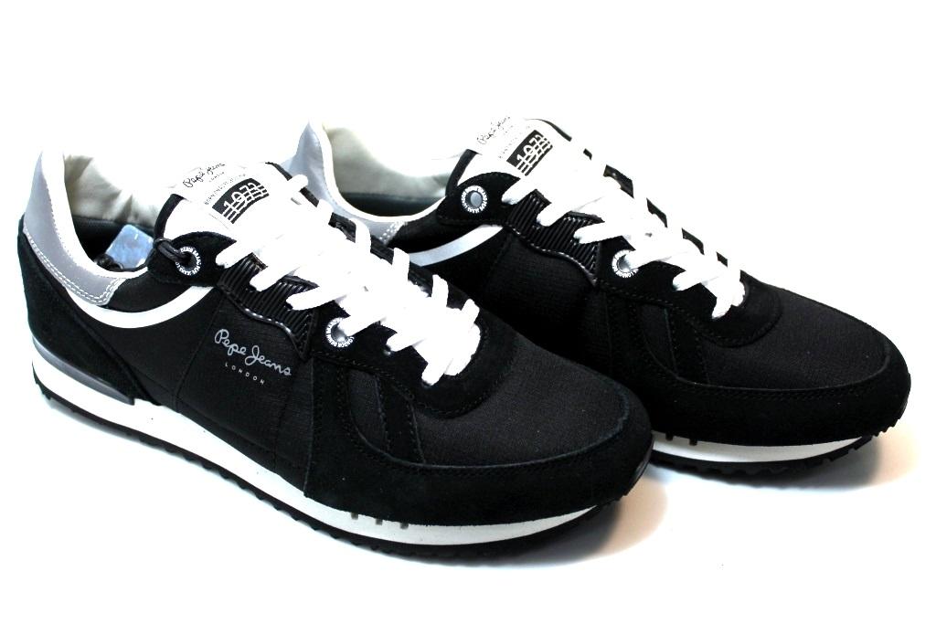 Pepe Jeans London PMS30415 Nero Sneakers Uomo Scarpa Casual Sportiva. codice   PepeJeansLondonPMS30415Nero 5156b95758c