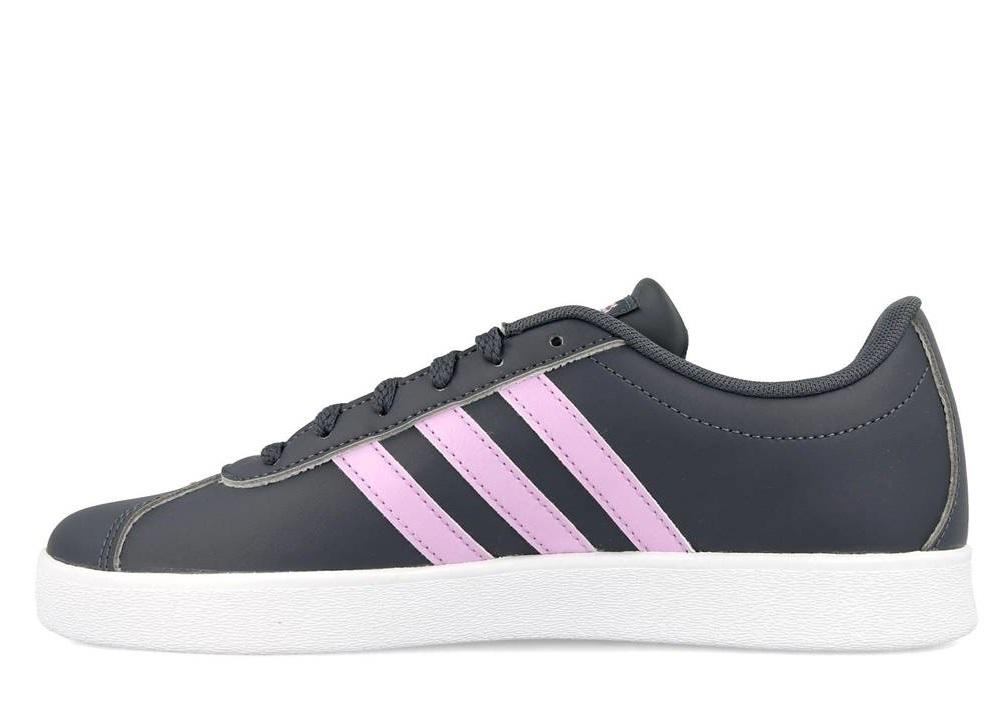Détails sur Adidas VL COURT 2.0 K B75694 Grigio Scarpe Donna Sneakers Sportive