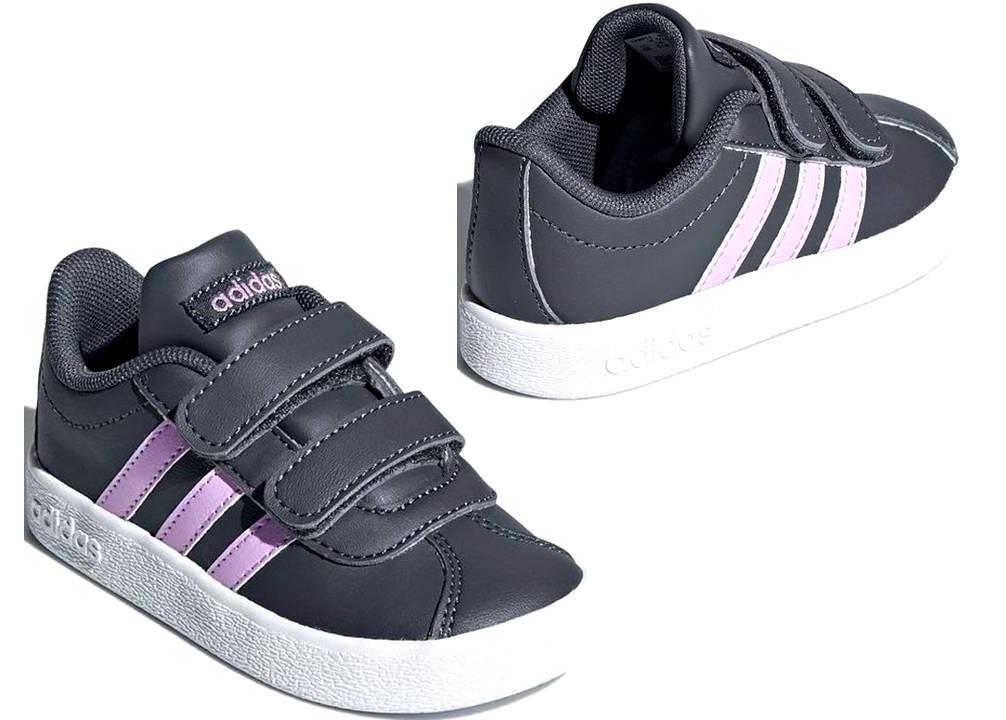 sports shoes aed96 400da ... australia 1 di 4 adidas b75980 grigio dal 20 al 27 sneakers con strappo  scarpe bambina ...