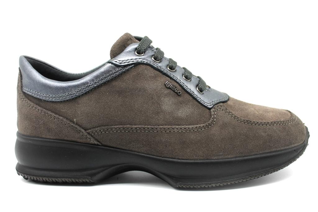 Calzature E Igi Grigio Co 2143022 Sneakers Scarpe Donna Casual 7ndqC0w