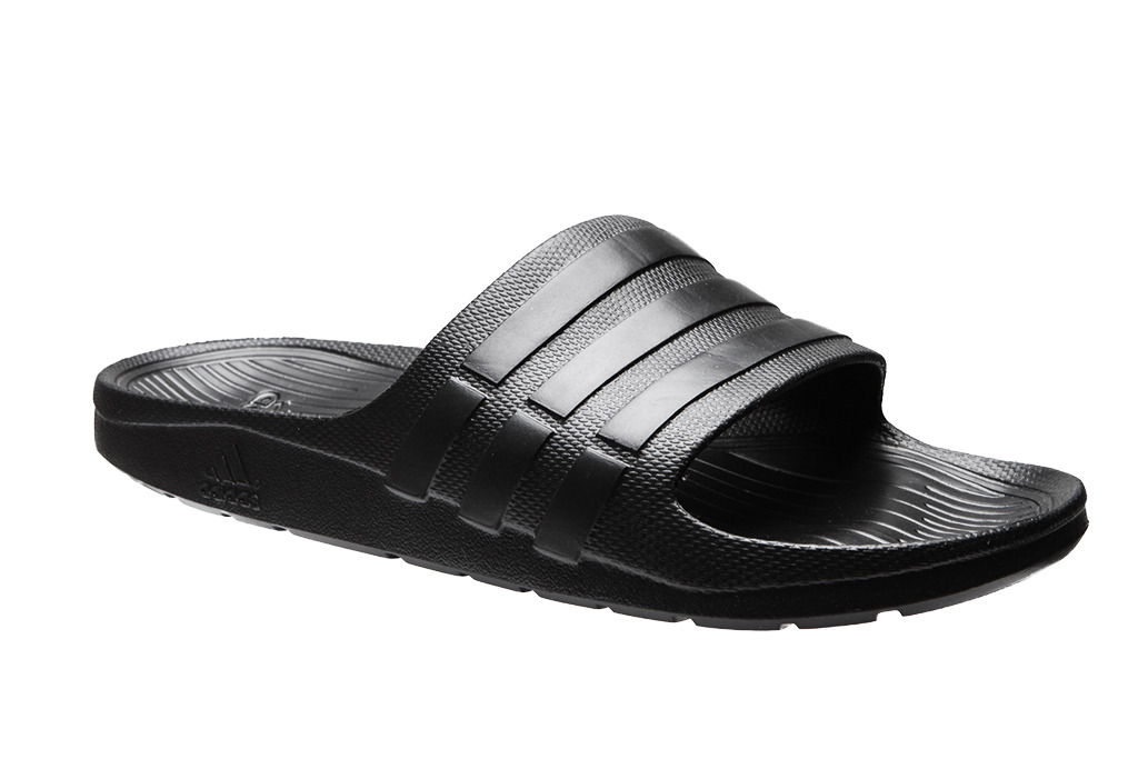 finest selection 24f34 5b930 Adidas Duramo Slide douche S77991 Black Man Beach Slippers