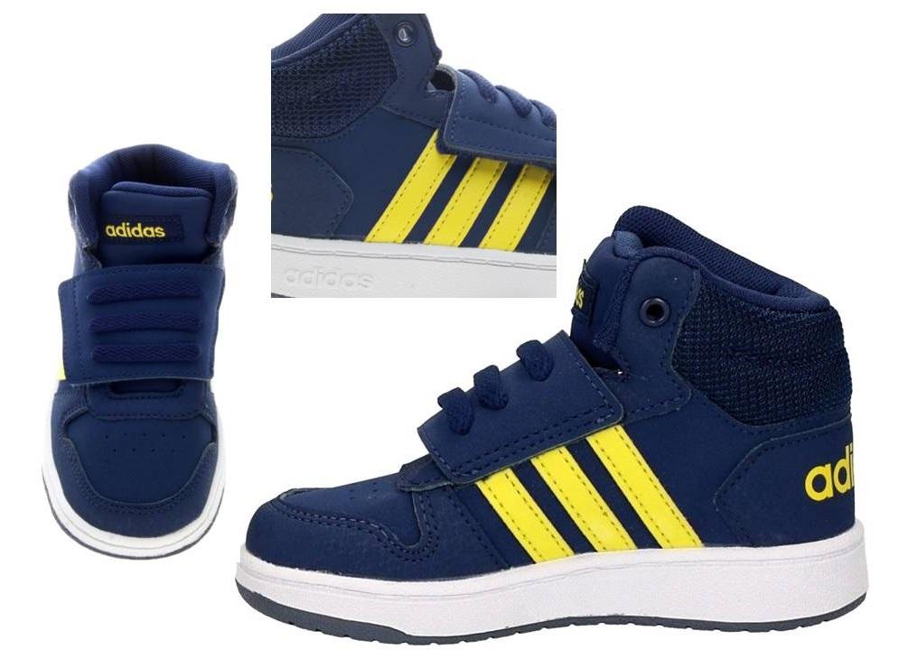 2861dc11e7e3b Adidas B75947 Blu Dal 20 al 27 Sneakers Con Strappo Scarpe Bambino ...