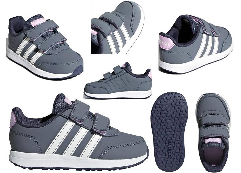 new style 37e0a 20d8b ... Adidas B76060 Grigio Dal 20 al 27 Sneakers Scarpe Bambina Ginnastica  Sport
