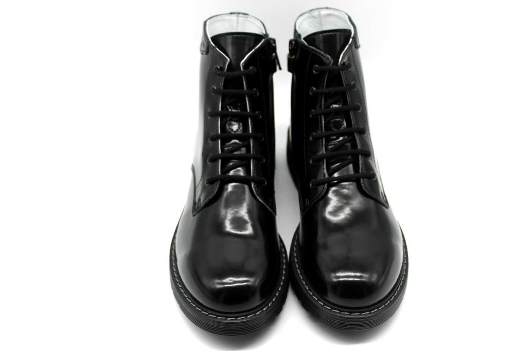 Détails sur Nero Giardini Junior A833341M Noir Bottines Femme Enfants Style Dr. Martens