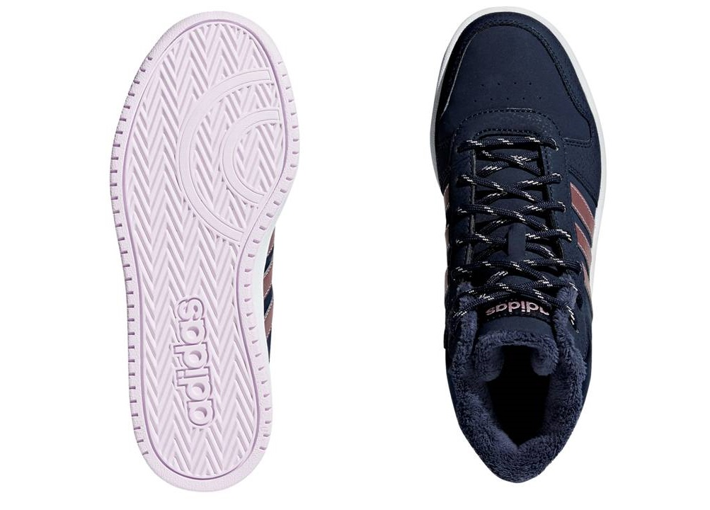 Vêtements et accessoires Adidas HOOPS MID 2.0 K B75741 Blu Scarpe Donna Bambina Sneakers Ginnastica