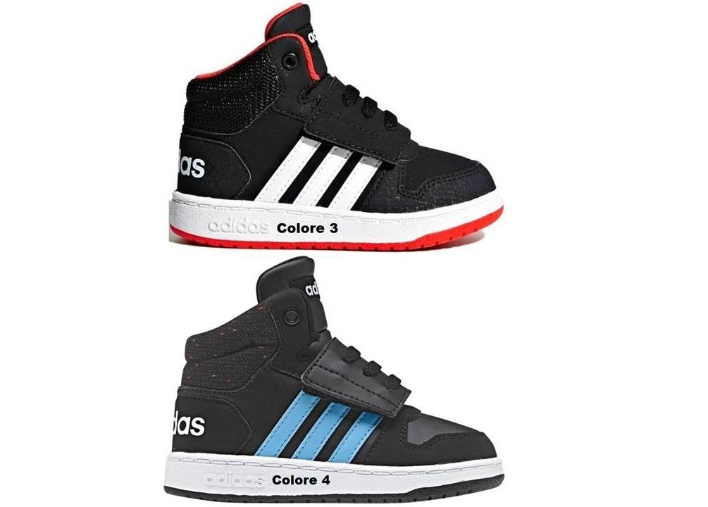 36c6d093e8a31 Adidas HOOPS MID 2.0I dal 20 al 27 Scarpe Con Strappo Bambino Ginnastica.  codice  AdidasHoopsMidBambini