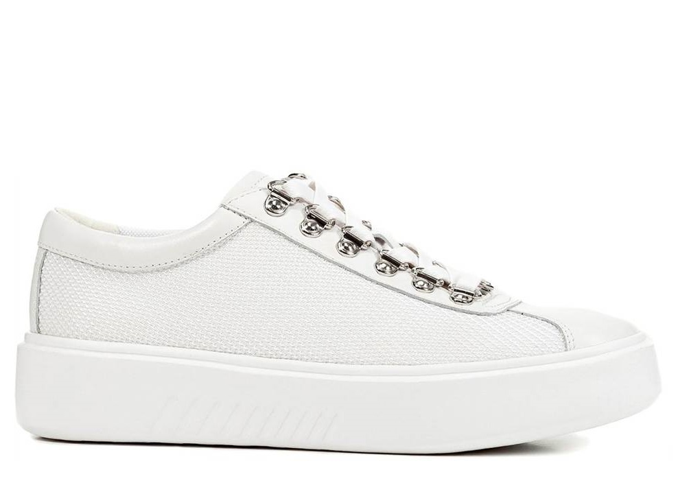 Dettagli su Geox NHENBUS D828DH 01485 Bianco Sneakers Scarpe Donna Calzature Casual