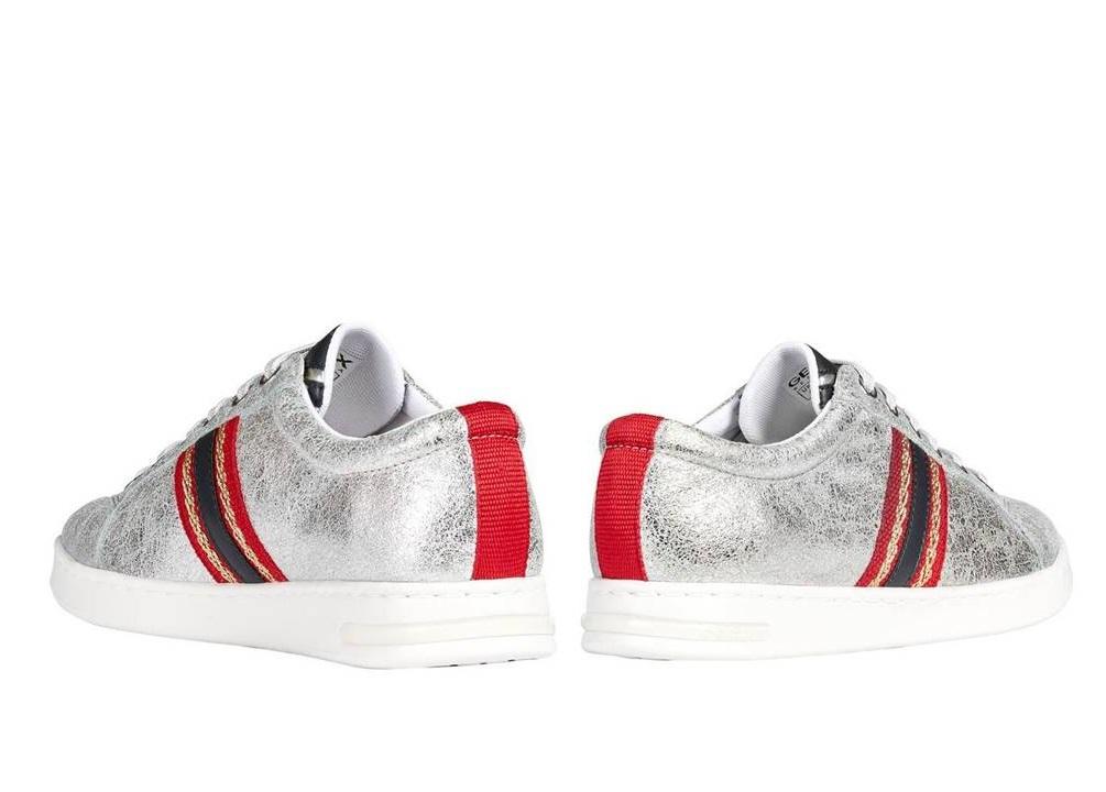 Dettagli su Geox JAYSEN D921BA 0VIBC Silver Sneakers Scarpe Donna Calzature Casual
