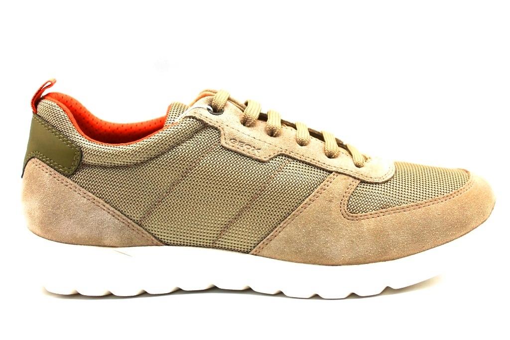 Dettagli su Geox DAMIAN U920HA 02214 Beige Sneakers Scarpe Uomo Calzature Casual