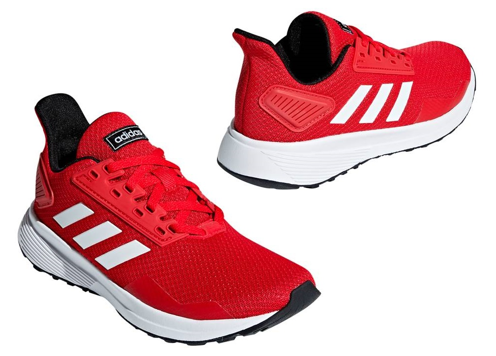 sports shoes 8ca82 9ddfa ... Adidas DURAMO 9K BB7059 Rosso Scarpe Donna Bambini Sportive Running ...