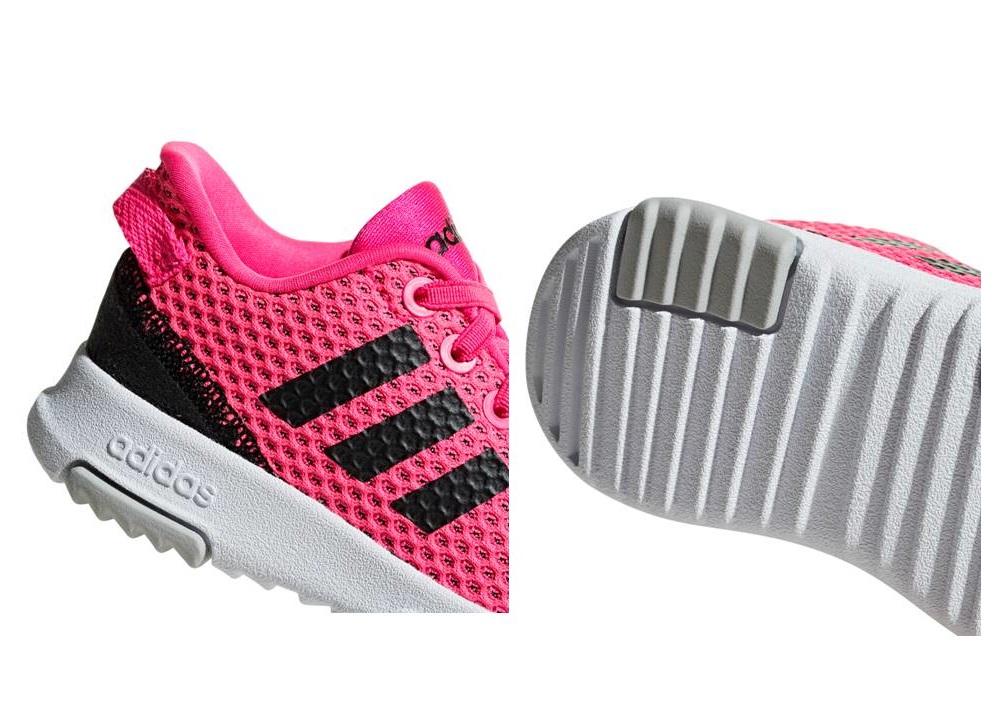Detalles de Adidas RACER TR INF F36450 Rosa Dal 20 al 27 Scarpe Bambina Ginnastica