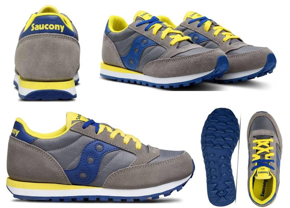 Detalles de Saucony Jazz SK261001 Gris Mujer Zapatillas de Deporte Niños Zapatos Casual