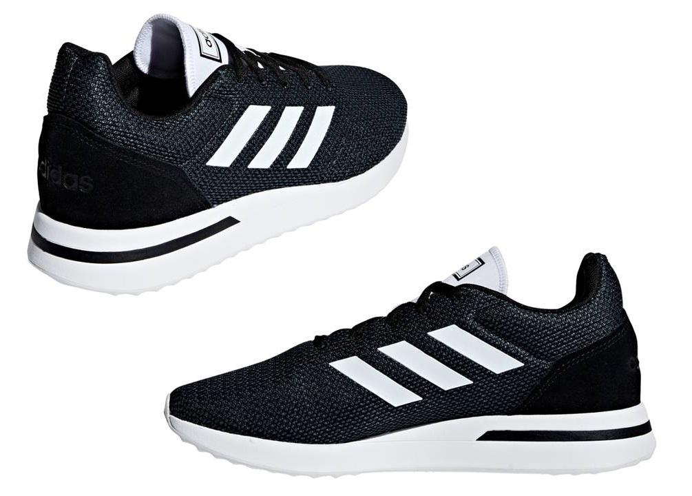 Dettagli su Adidas RUN70S B96550 Nero Scarpe Uomo Sneakers Sportive