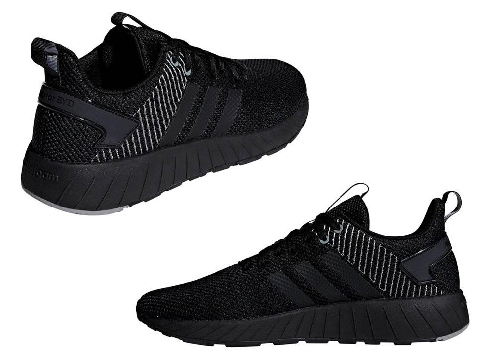 official photos 3ffbf 4c30c ... Adidas QUESTAR BYD F35040 Nero Scarpe Uomo Sneakers Running ...