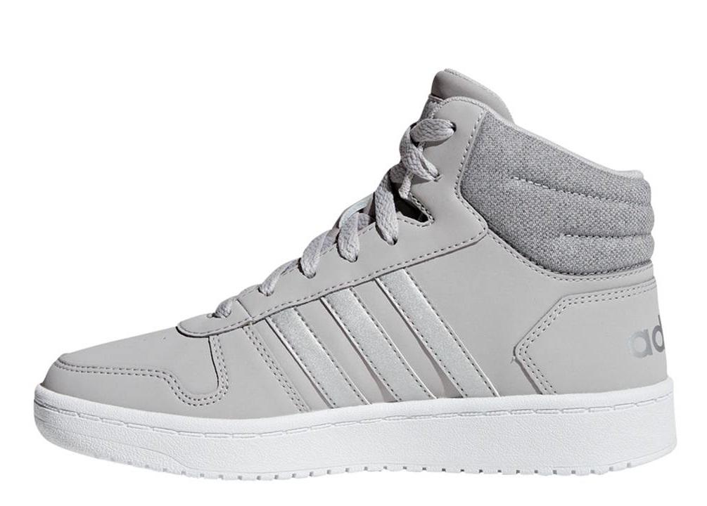Dettagli su Adidas HOOPS MID 2.0 F35796 Grigio Scarpe Donna Bambino Sneakers Ginnastica