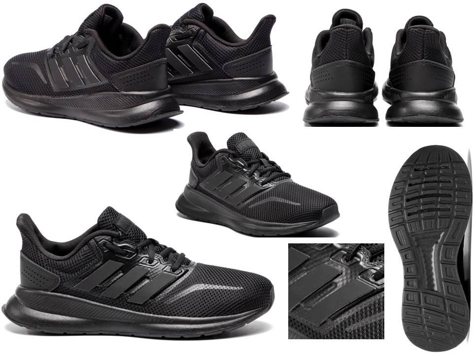 Detalles de Adidas Runfalcon k F36549 Negro Zapatillas Mujer Niños Gimnasia Running