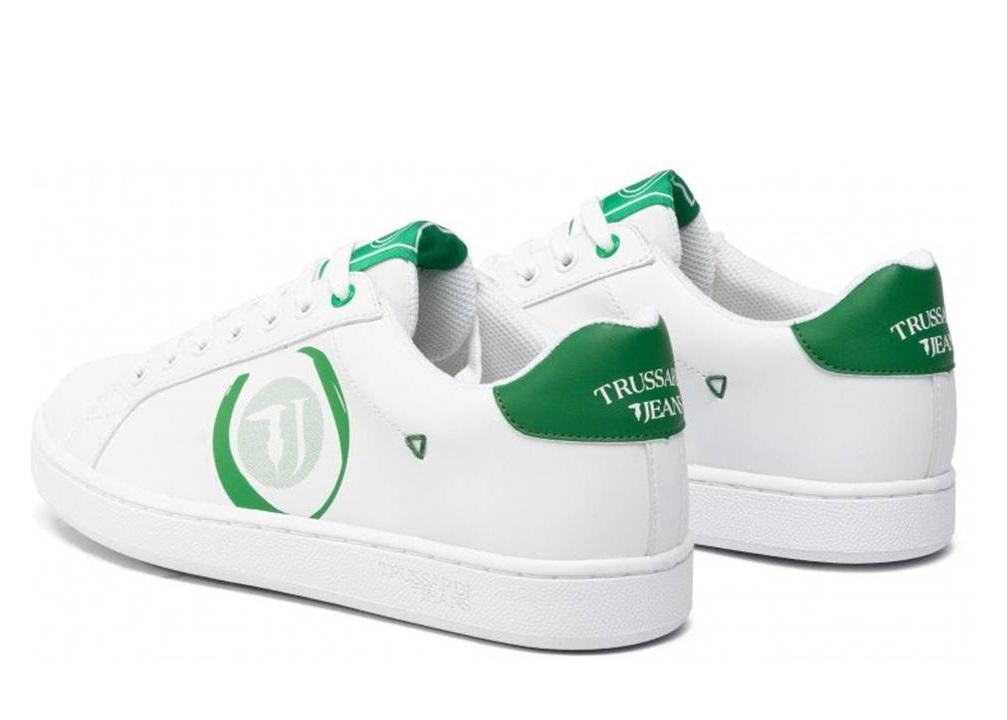 Trussardi Jeans 77A00208 Bianco Verde Sneakers Uomo Scarpa Sportiva Casual