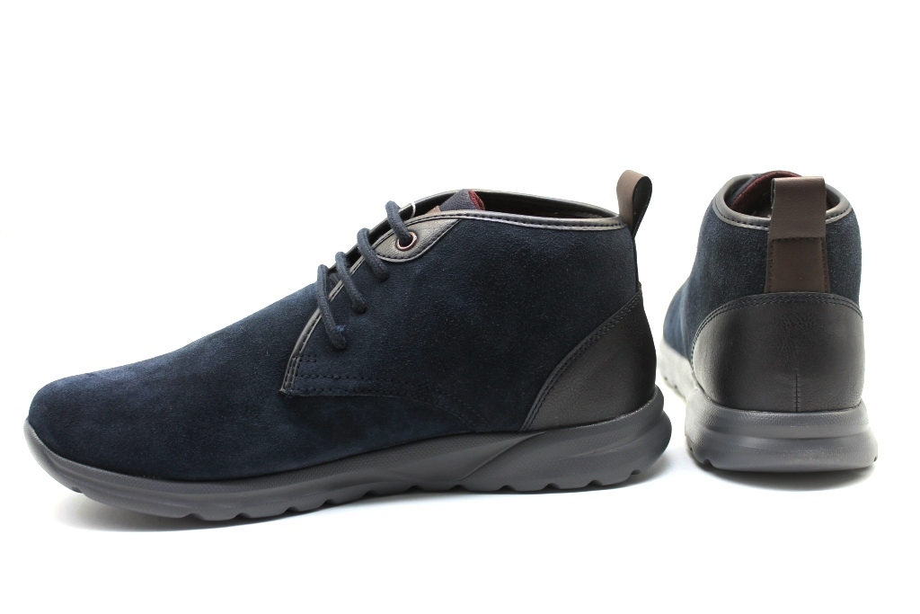 Détails sur Geox Damian U940HC 022BC Bleu Bottines Homme Chaussure Casual