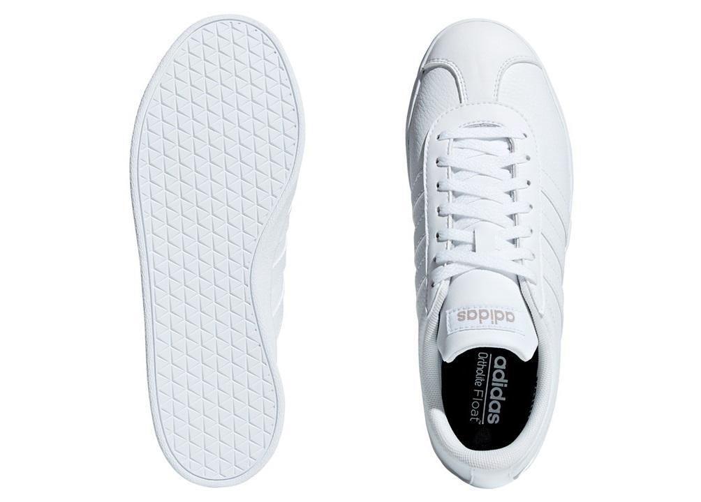 Dettagli su Adidas VL COURT 2.0 B42314 Bianco Scarpe Donna Bambini Sneakers Sportive