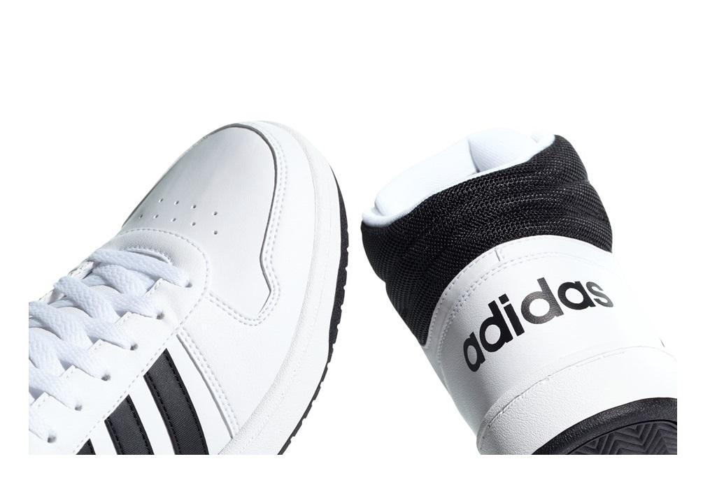 Détails sur Adidas HOOPS 2.0 MILIEU BB7208 Blanc baskets Homme Sportif