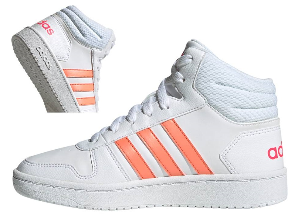 Dettagli su Adidas HOOPS MID 2.0 K EE6708 Bianco Scarpe Donna Bambina Sneakers Ginnastica