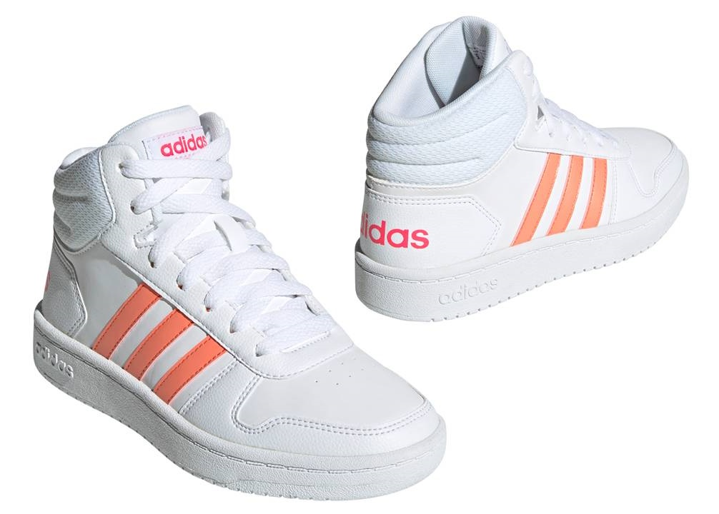 adidas hoops bianche