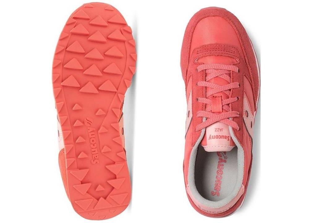 Saucony-Jazz-SK161587-Rosa-Sneakers-Donna-Bambini-Scarpa-Casual-Sportiva miniatura 4