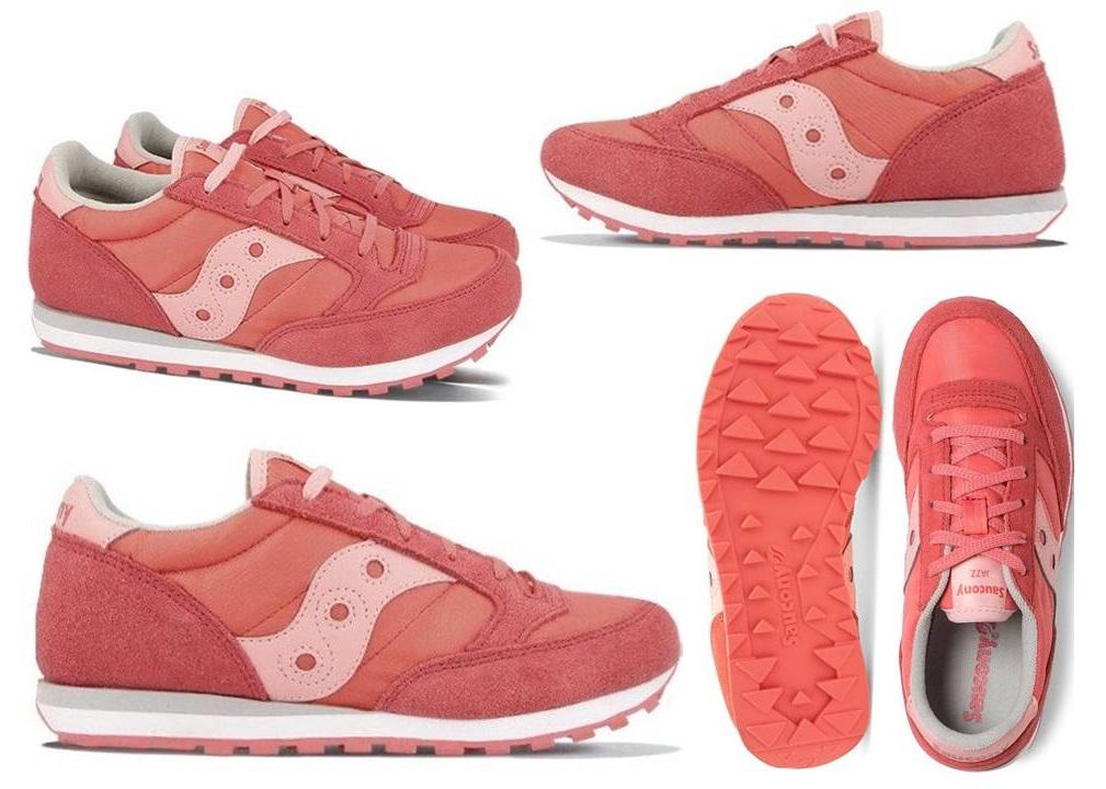 Saucony-Jazz-SK161587-Rosa-Sneakers-Donna-Bambini-Scarpa-Casual-Sportiva miniatura 5