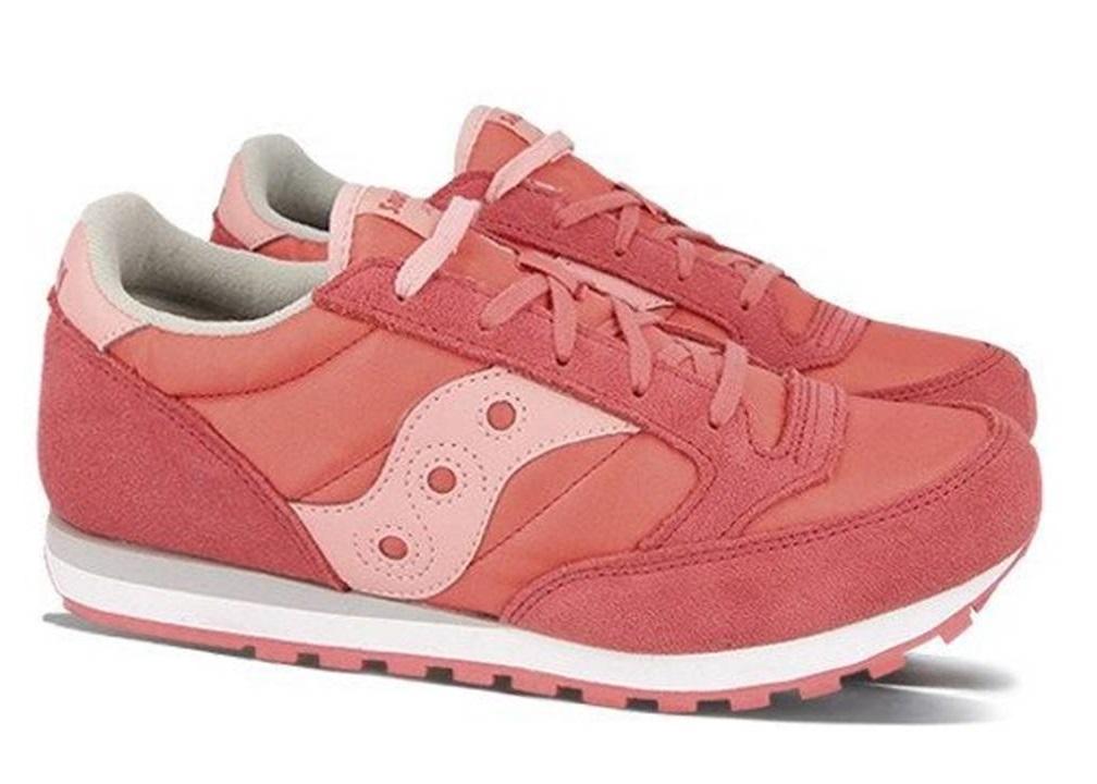 Saucony-Jazz-SK161587-Rosa-Sneakers-Donna-Bambini-Scarpa-Casual-Sportiva miniatura 3